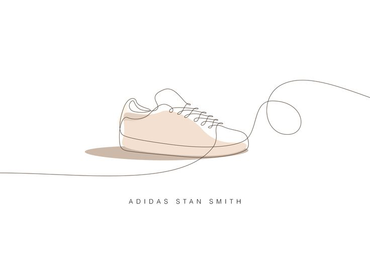 Some of the sneakers that marked our youth, drawn in continuous lines. Yay !