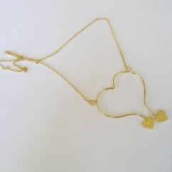 Açık ucları kalp kolye - #tasarim #tarz #altin #rengi #moda #nishmoda #gold #colored #design #designer #fashion #trend