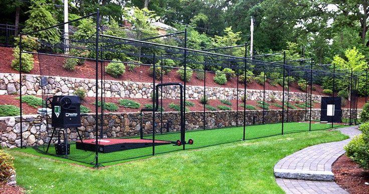Nice black batting cage