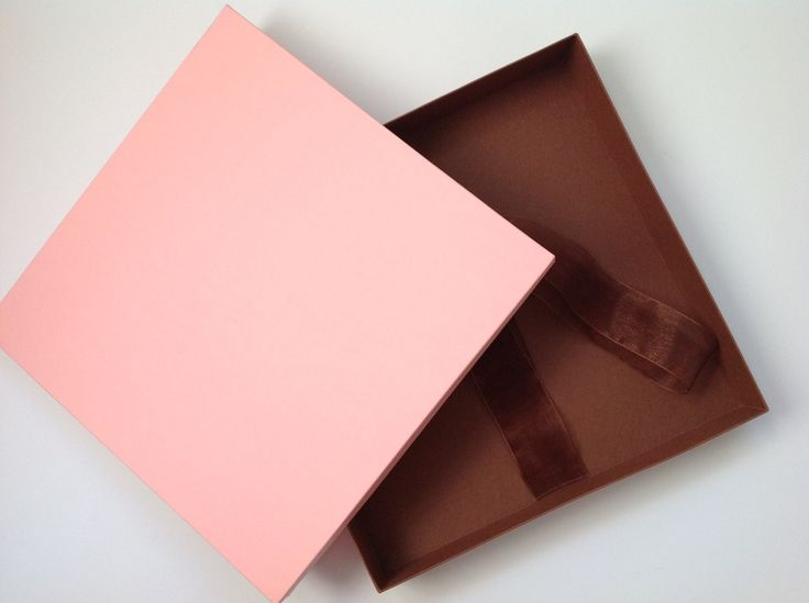 Portrait box 10x10''/ Presentation box/ Pink Chocolate/ Wedding and newborn photography packaging / Custom made packaging by MrsBowsAccessories on Etsy