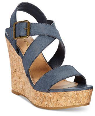 Rampage Happy Platform Wedge Sandals