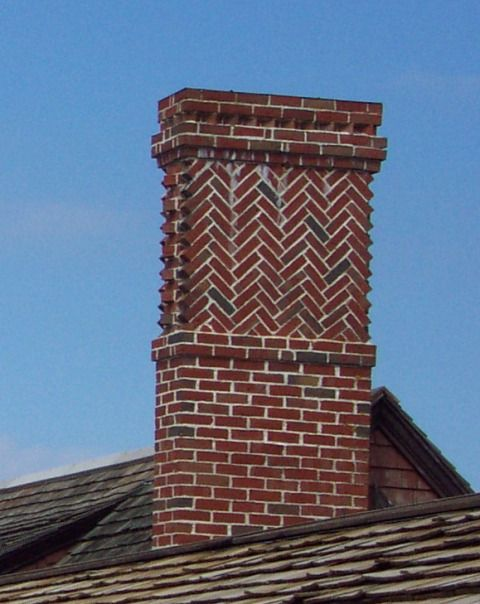 Herringbone Chimney Siding Roofing Chimneys Cupolas