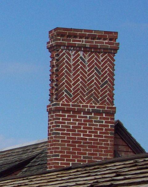 Herringbone chimney
