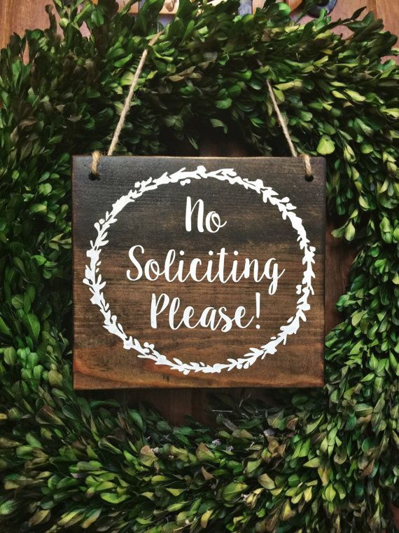No Soliciting Wood Door Sign. Straight and to the point but pretty! No soliciting signs | door signs | do not disturb signs | no solicitation signs