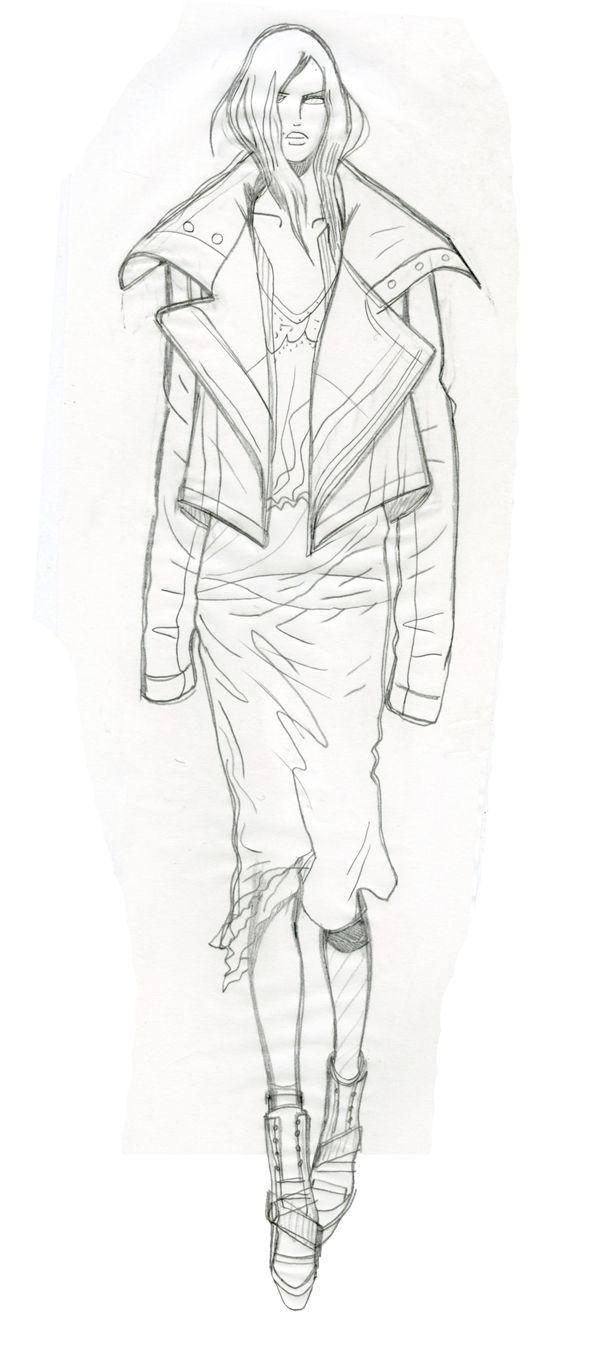 Lara, London. May 2014. Jaa design original fashion illustration. http://jaaarchives.com/