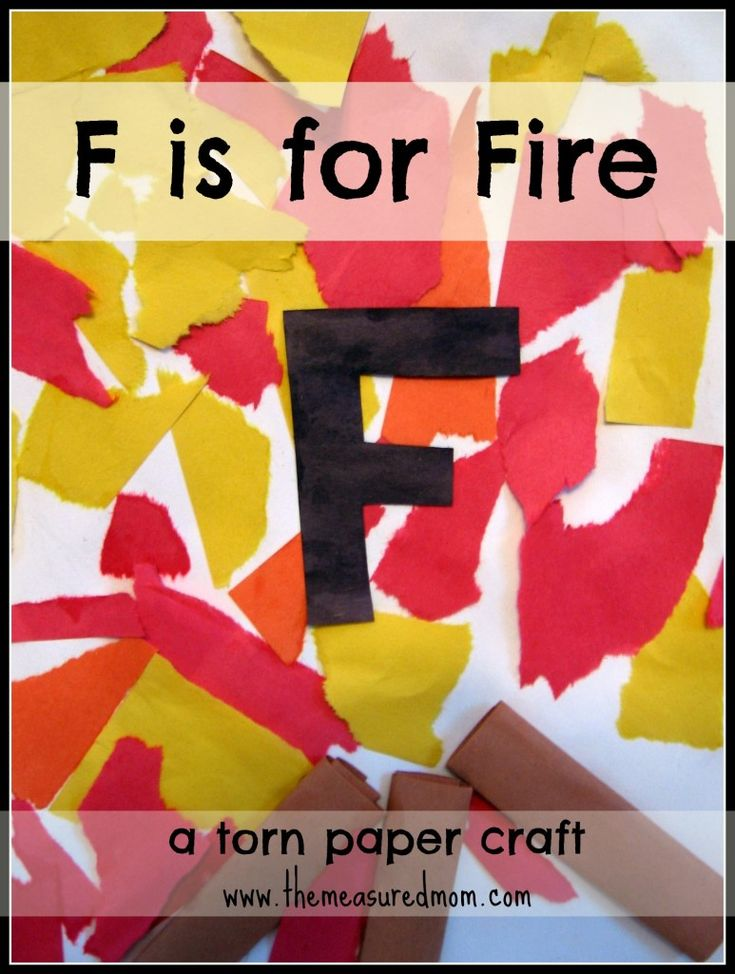 F is for Fire: #Torn Paper Craft