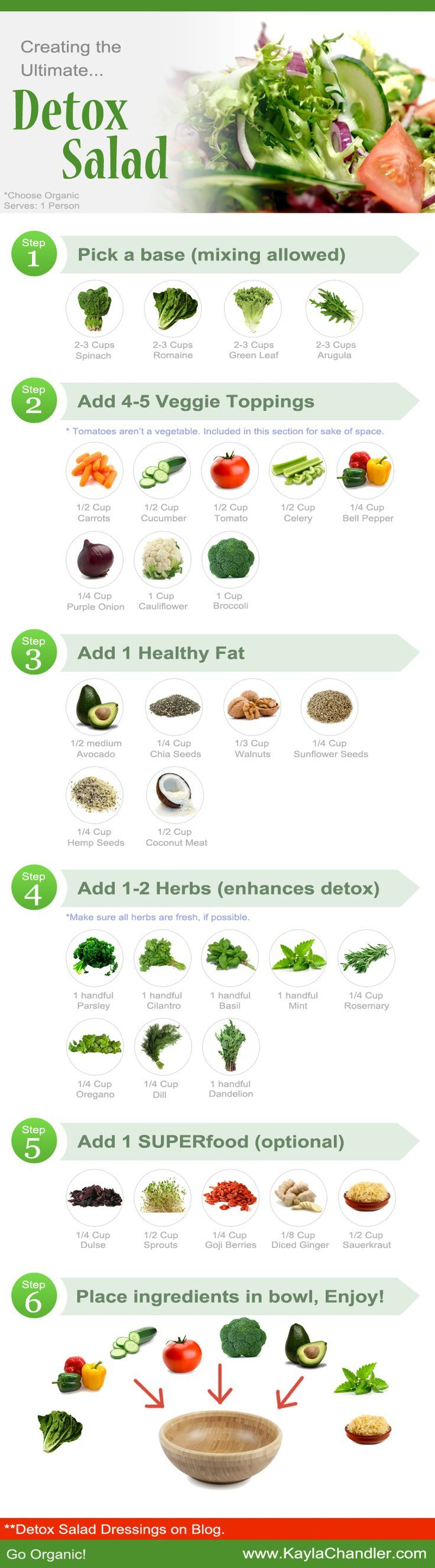 Creating the Ultimate Detox Salad.. plus DIY Healthy Salad Dressings included. #detox #salads #saladdressings