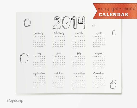 Year Round Calendar Template : Year round calendar new template site