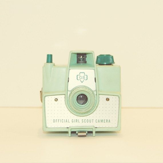 Mint Imperial Girl Scout Vintage Camera Pastel Mint Green Hipster Style Retro Decor Minimalist Geekery Modern Decor, 8 x 8 Fine Art Print on Etsy, $30.00