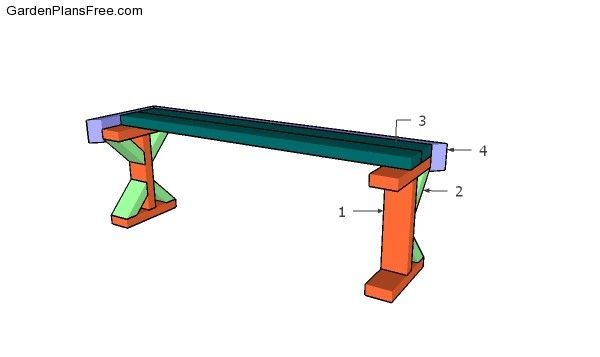 2x4 Bench Seat Plans Free Garden Plans How To Build