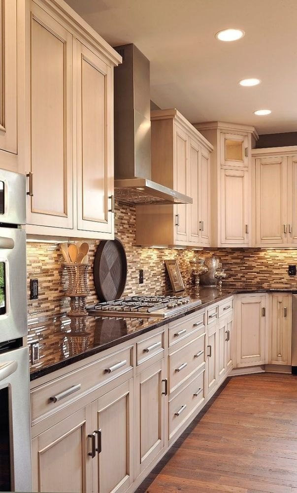 60 New Trend Kitchen Decoration And Design Ideas For 2020 Part 9 Cream Kitchen Cabinets Kitchen Design Kitchen Remodeling Projects