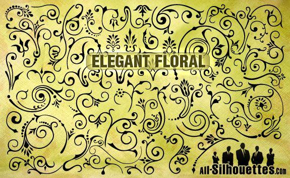 download vector elegant florals