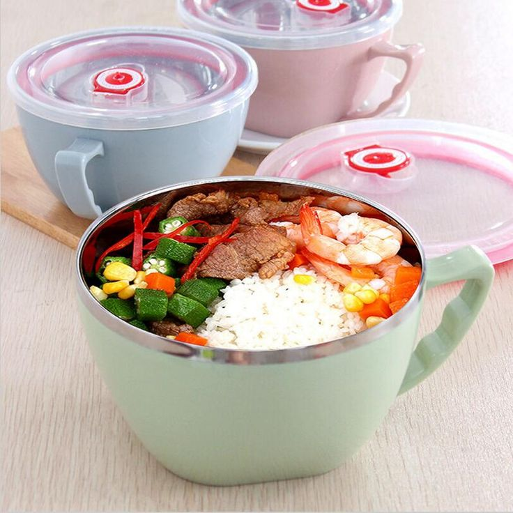 Japan Style Food Container Bowl With lid,Bento Lunch Box,Stainless Bowl for Children Lunch Box,tigela opa,Rice Bowl,bol ino