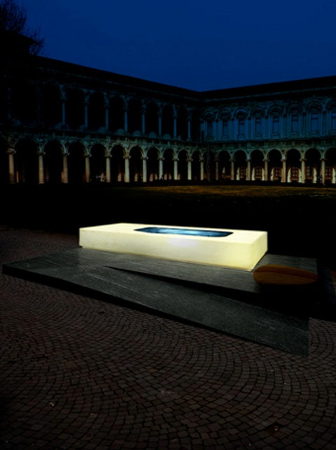 Ludovica+Roberto Palomba design the installation EAU VIVE@Interni Legacy  for Zucchetti.Kos, Payanini and Tectona