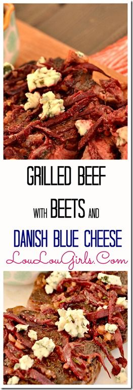 Grilled Beef with Beets and Danish Blue Cheese, Inspired by the movie Burnt!
