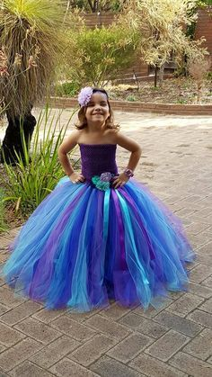 Peacock Full Length Lined crochet Tutu by FunkidsandUsBoutique