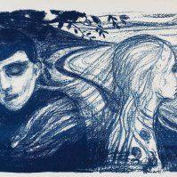 Edvard Munch (1863 - 1944) pintor y grabador noruego.-  Separation II