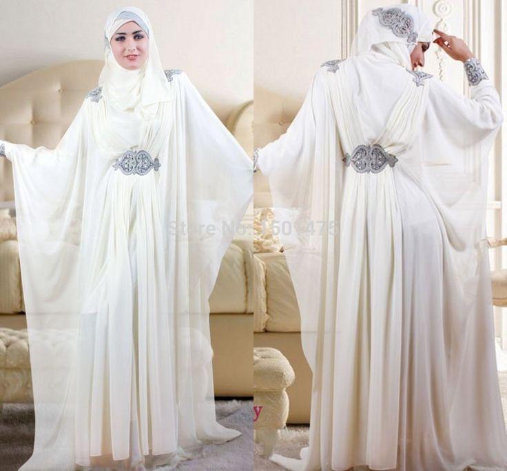 White abaya <3