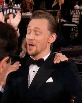 """And the Golden Globe goes to: Tom Hiddleston!"" Gif-set (by cheers-mrhiddleston): http://maryxglz.tumblr.com/post/155669858777/cheers-mrhiddleston-and-the-golden-globe-goes"