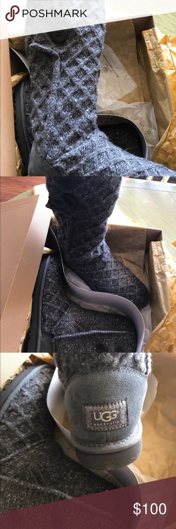 Ugg Cardy Lattice Size 9 Charcoal gray Ugg Lattice Cardy Size 9 New in box. Paid $140. Runs big. Size down. UGG Shoes Ankle Boots & Booties