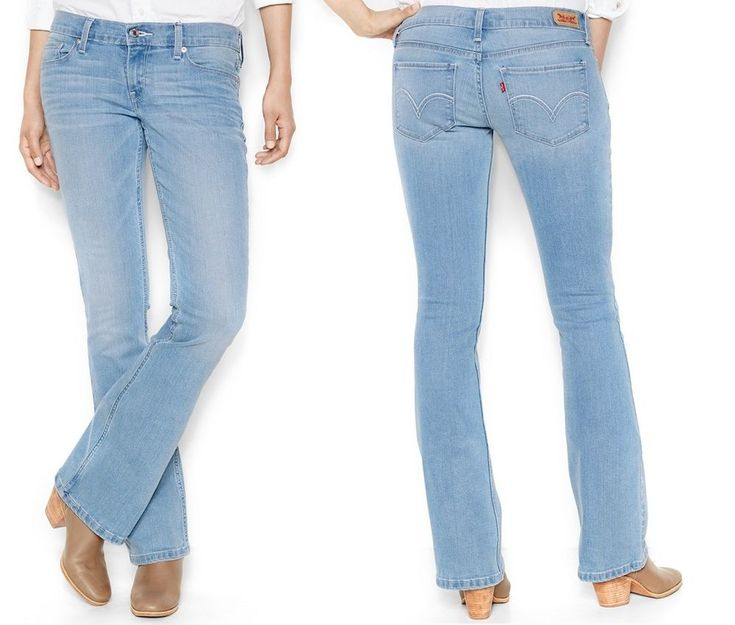 Details about Levi's 524 juniors' jeans slim bootcut low rise ...