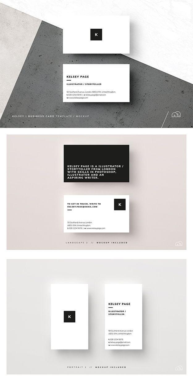 Business Card Kelsey Calling Card Design Business Card Template Business Cards