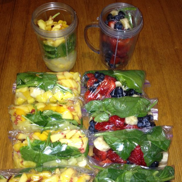Pre-assemble smoothie fruits and freeze them. AND I love the Magic Bullet for smoothies!