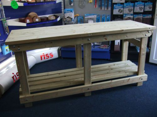 New-hand-made-6FT-solid-heavy-duty-wooden-work-bench-table