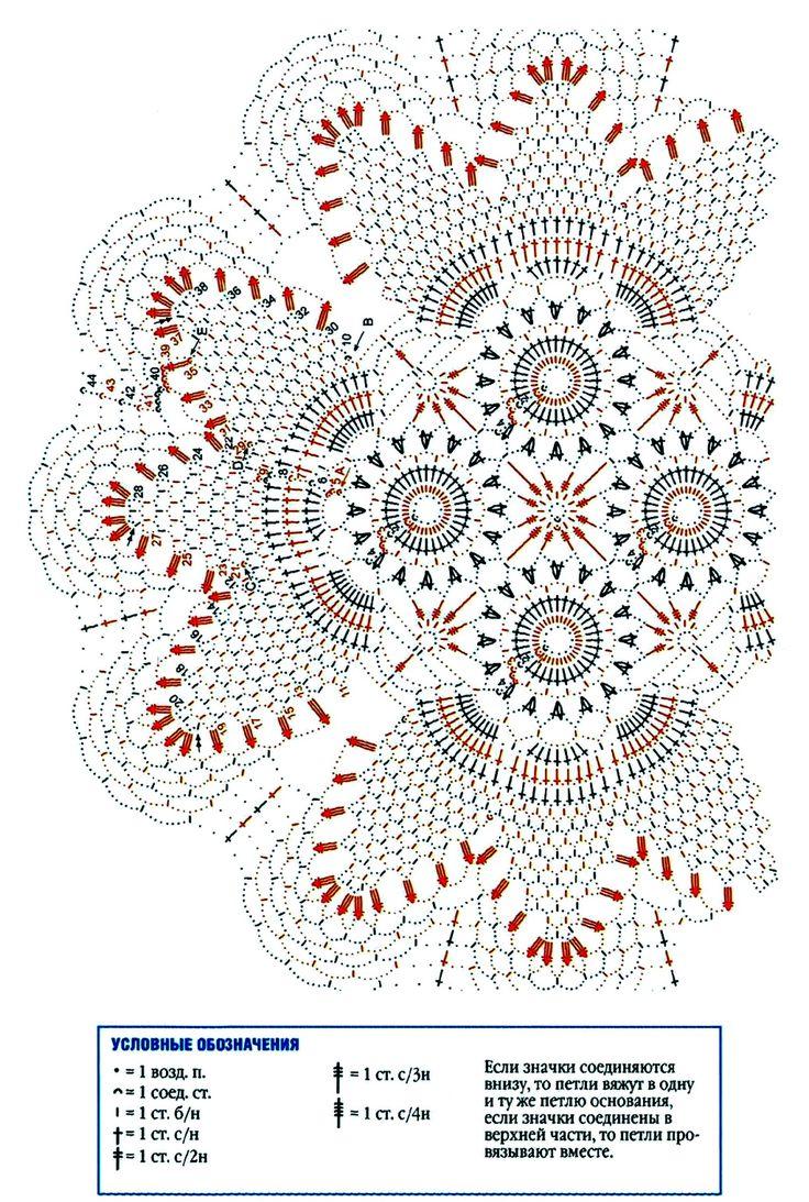 666 best tapetes de crochet images on pinterest crochet for Tapetes de crochet