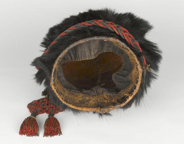 L'ours, bonnet à poilde sous-officier du régiment de chasseurs à pied de la Garde impériale - Musée de l'Armée