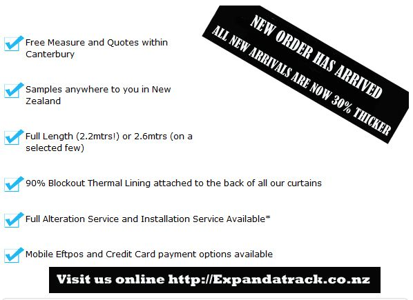 New order has arrived, get your hands at it!! New Curtains & Drapes! Visit http://expandatrack.co.nz/ #drapes #curtains #Curtaintracks #NZ #Rangiora