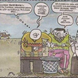 Eski nesil sosyal medya - umut sarıkaya karikatürleri