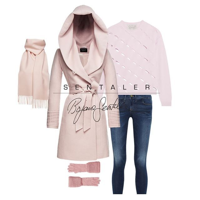 Cold Comfort . . . #style #warm #cold #winter #SENTALERLooks #ootd #sunday #blush #pink #casual #SENTALER