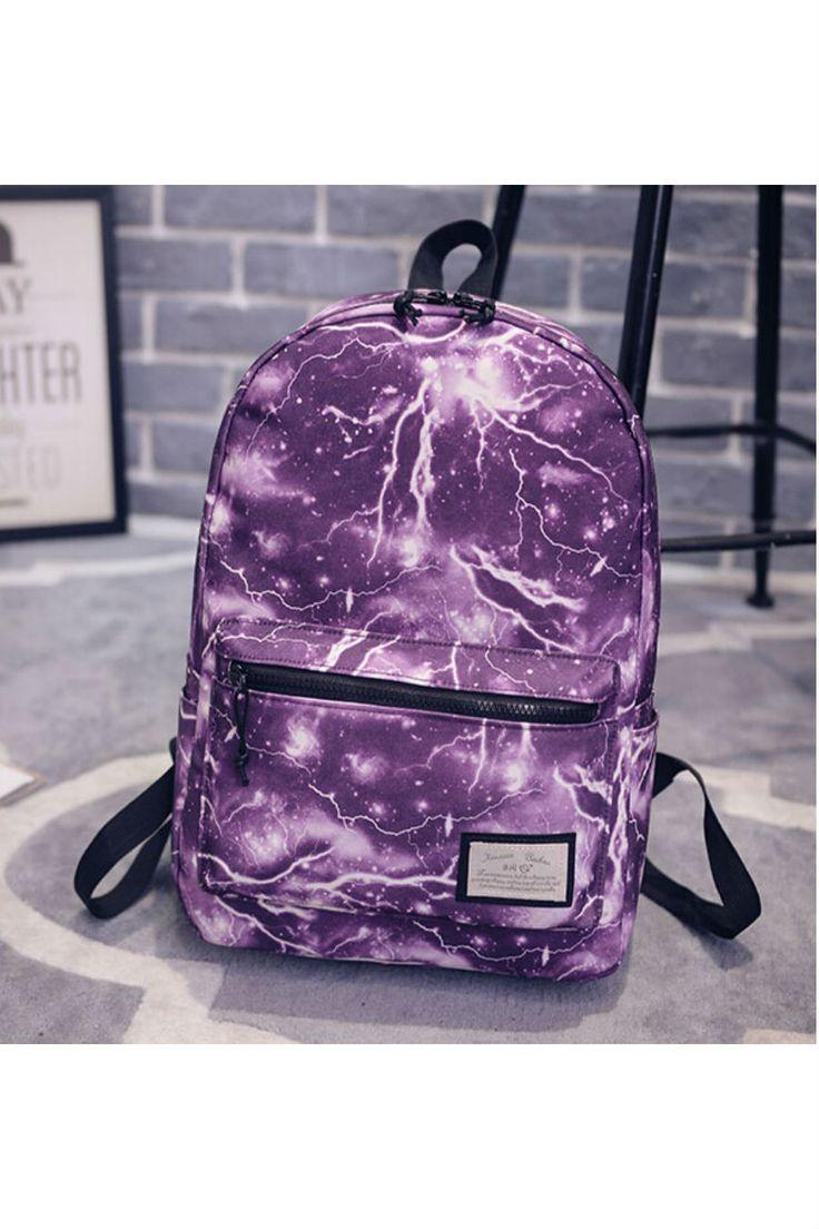 Galaxy Purple Canvas Backpack
