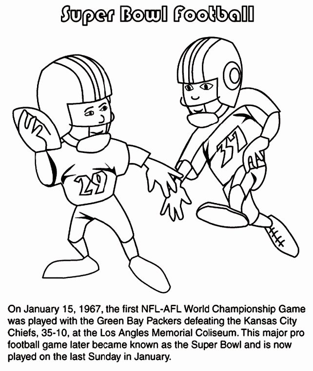 Super Bowl 50 Coloring Page Luxury First Super Bowl Football Game Coloring Page In 2020 Super Bowl Football Football Coloring Pages Super Bowl