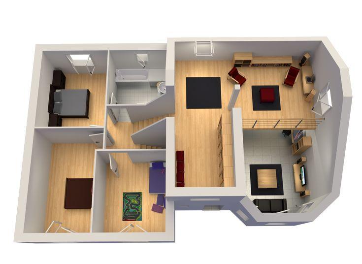 Le plan du mod le nebraska demi niveau mezzanine for Maison moderne 110m2
