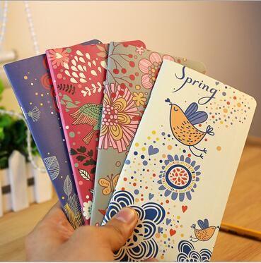 Vintage Garden Flower Birds Kraft paper Pocket notebook/Retro beautiful flower printed planner/wholesale No.0028