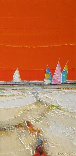 lumiere d'un jour (Painting),  30x60 cm par Christian Eurgal