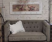 Painted Cottage Chic Shabby Farmhouse Love Seat CHR50