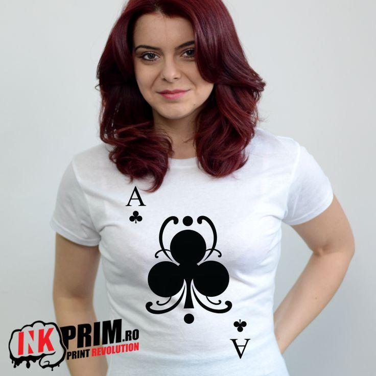 Tricou Personalizat, cu mesaj AS - Treflă, pentru fete si baieti