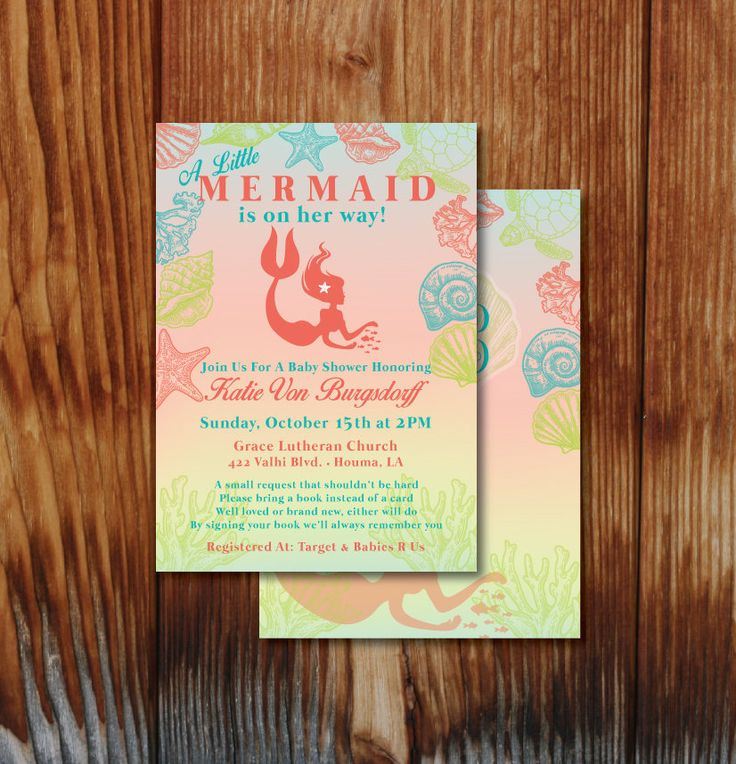 free printable camo baby shower invitations templates%0A Mermaid Baby Shower Invitation  Under the Sea Baby Shower Invitation   Mermaid Theme Baby Shower Invite Girl  Mermaid Printable