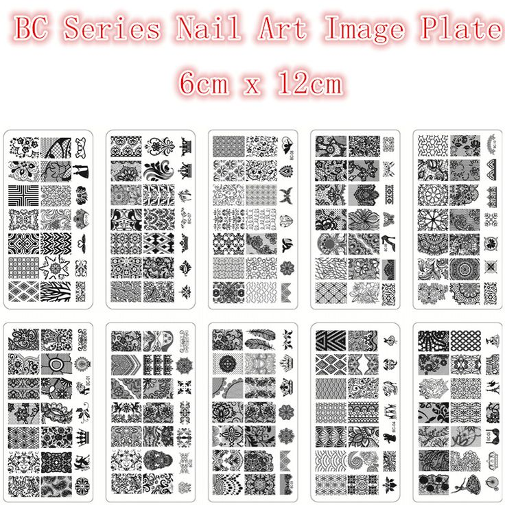 BC Series Nail Stamping Plates Plastic Nails Art Stamp Plastic Templates For Gel Polish