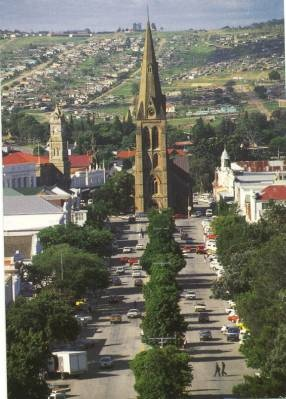Cathedral in Grahamstown - hometown of the National Arts Festival.
