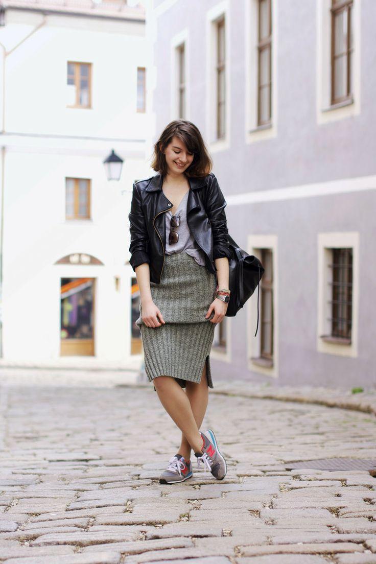 midi skirt. — #redpoppystories #newbalance #sneakers #kicks #fashion #urban