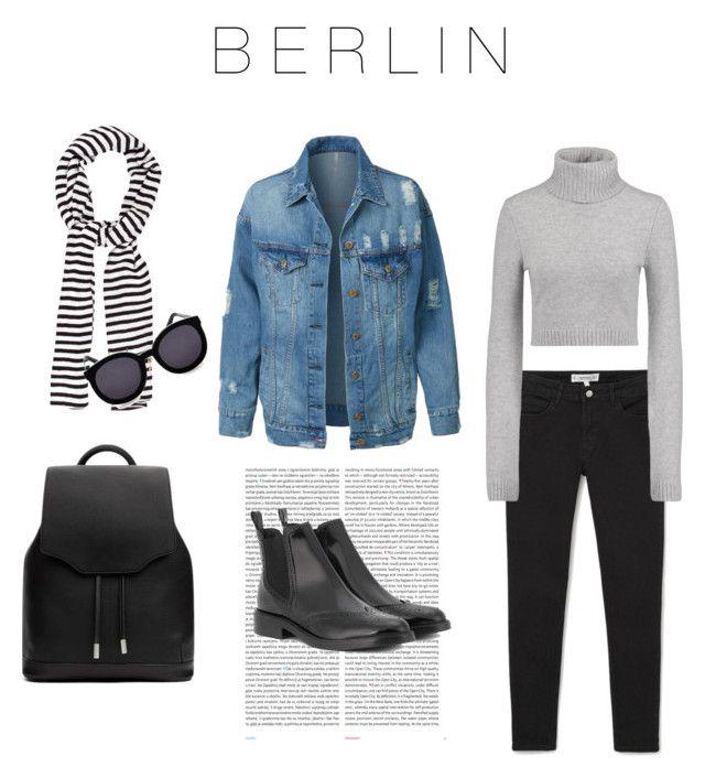 """Berlin, Germany"" by katya-hodges on Polyvore featuring Kate Spade, LE3NO, Karen Walker, MANGO, Michael Kors, rag & bone, Oris and Burberry"