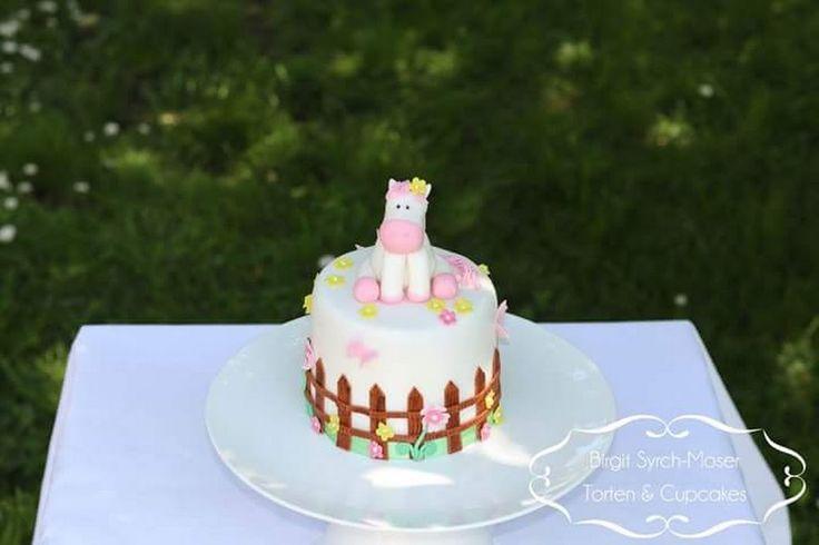 Birthday Cake with handmade horse - Birgit Syrch-Moser - Google+