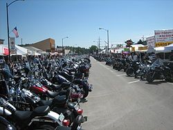 Was visiting South Dakota and came upon the famous Sturgis annual motorcycle events!