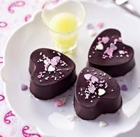 Chocolate and Raspberry Candy Hearts