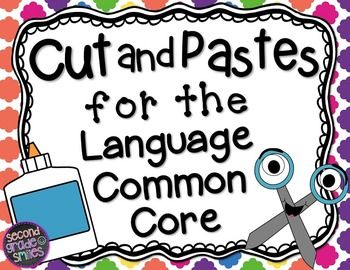 Cut and Pastes for the Language Common Core Standards (Bundle)