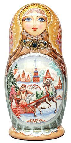 Wooden Matryoshka ~ reminds me of Mom, she had an extensive collection.